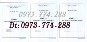 3 Bìa kẹp Mẫu HS09c-VC/BNV, Mẫu HS09d-VC/BNV, Mẫu HS09b-VC/BNV