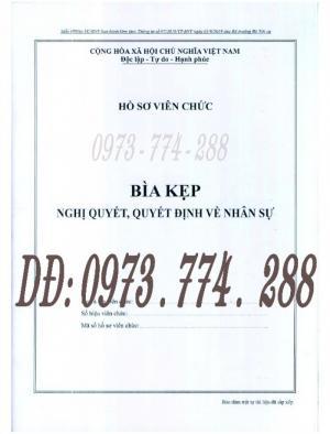 Mẫu HS09c-VC/BNV - Bìa kẹp nghị quyết, quyết định về nhân sự