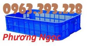 Sọt đựng hàng trong siêu thị, sọt rỗng cao 10, sóng nhựa HS010