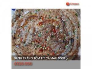 Bánh tráng tôm tít Cà Mau 1000 gr
