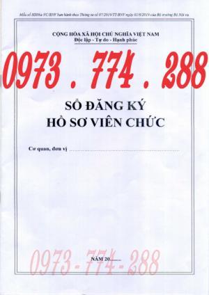 Bán quyển sổ đăng ký hồ sơ viên chức