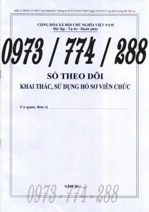 Bán quyển sổ theo dõi khai thác sử dụng hồ sơ viên chức