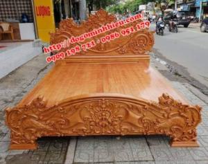 Xưởng chuyên sản xuất giường ngủ bằng gỗ gõ đỏ giá rẻ