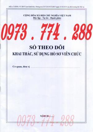 Bán sổ theo dõi khai thác, sử dụng hồ sơ viên chức mẫu hs08c-vc/bnv ban hành kèm theo thông tư số 07/2019/tt-bnv ngày 01/6/2019 của bộ trưởng bộ nội vụ
