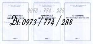 Bán 3 sổ đăng ký hồ sơ viên chức, sổ giao nhận hồ sơ, sổ theo dõi khai thác, sử dụng hồ sơ viên chức