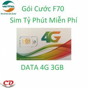 Sim 4g Viettel gọi miễn phí 3GB tốc độ cao