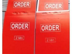 Bán phiếu order 2liên, 3liên a6 100 tờ