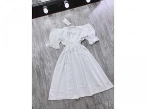 Váy đũi trắng chun eo