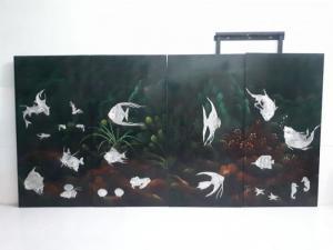 Tranh sơn mài xưa cũ kích thước 1x2m