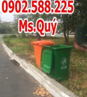 Thùng rác công cộng 240l, giá thùng rác 120l