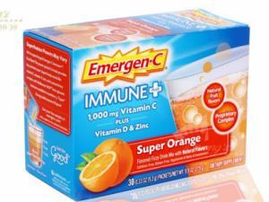 Bột sủi C tăng đề kháng Emergen-C Immune Plus Super Orange  hàng mỹ xách tay