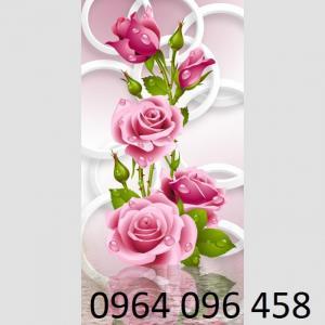 tranh hoa hồng - tranh gạch 3d