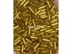 1000 vỏ nang rỗng viên nang con nhộng gelatin size 0 màu vàng bạc có sẵn