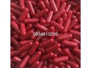 1000 vỏ nang rỗng gelatin màu đỏ size 0