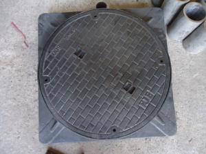 Nắp hố ga khung vuông nắp tròn D600
