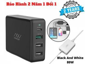 Sạc Nhanh Nhiều Cổng INNOSTYLE GOMAX PRO 80W Cho Laptop Macbook-IGP65
