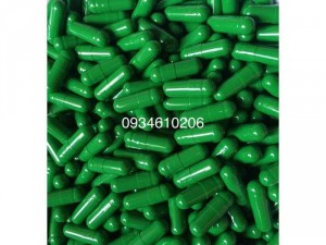 1000 vỏ nang gelatin rỗng size 0 hàng đạt chuẩn màu xanh lá