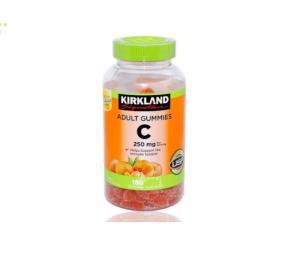 Kẹo Dẻo trái cây Bổ Sung Vitamin C Kirkland Adult Gummies C 250mg (180viên)