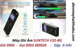 Máy ghi âm Suntech V32-8G chất lượng ghi âm phát to, nghe rõ