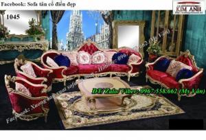 Siêu đẳng cấp với kiểu bàn ghế sofa cổ điển phòng khách cho biệt thự