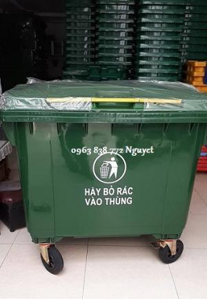 Thùng rác 660 lít nhựa hdpe bán trên toàn quốc
