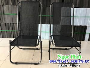 Ghế xếp khung sắt, ghế lưới, ghế câu cá, ghế cafe - Nệm ngồi - Gối Tựa Ngọc Phát