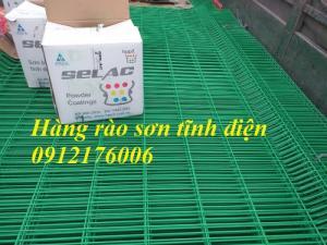 Hàng rào lưới thép hàn D5 a 50x150 mạ kẽm sơn tĩnh điện giá tốt tại Hà Nội