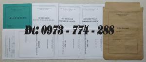 Biểu mẫu quản lý hồ sơ viên chức