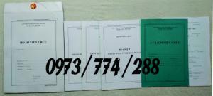 Đặt in nguyên bộ hồ sơ cán bộ viên chức - Mẫu HS09a mới nhất