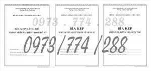 Bán bộ bìa kẹp hồ sơ cán bộ, công chức,viên chức