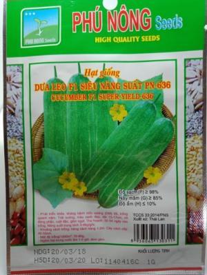 Hạt giống dưa leo siêu năng suất Phú Nông