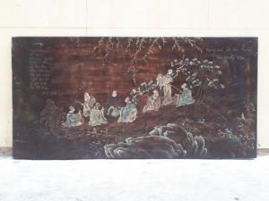 Tranh bát tiên xưa kích thước 0.6x1.2m