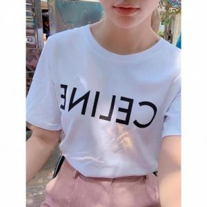 Áo phông nữ in chữ CE LINE thời trang