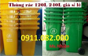 Phân phối thùng rác 240 lít nhựa HDPE giá rẻ tại đồng tháp- lh 0911.082.000