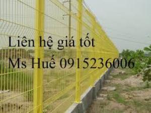 Lưới thép hàng rào phi 5 ô 50 x100 mạ kẽm sơn tĩnh điện gập tam giác hai đầu