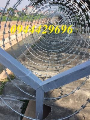 Dây thép gai hình dao ĐK 35cm, 45cm, 60cm ,80cm, 90cm