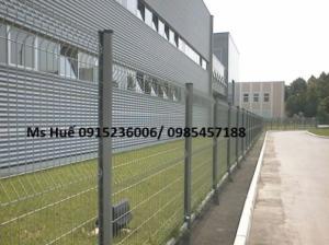 Lưới thép hàng rào phi 5 ô 50x150 mạ kẽm sơn tĩnh điện, nhúng nhựa pvc gập tam giác 2 đầu, lượn sóng