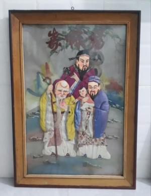 tranh vải gói Nam Bộ xưa thập niên 1950-1960
