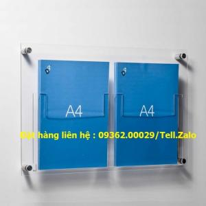 Kệ checklist mica- Kệ mica treo tường A4,A5,A6