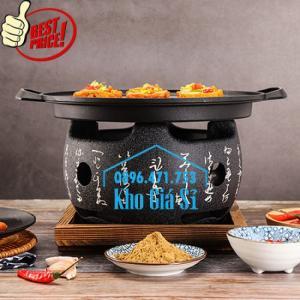 Bếp nướng kiểu Nhật hình tròn - Lò nướng kiểu Nhật Bản hình tròn bằng gang đúc giá tốt tại HCM