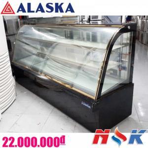 Tủ mát trưng bày bánh kem kính cong Alaska 2 tầng
