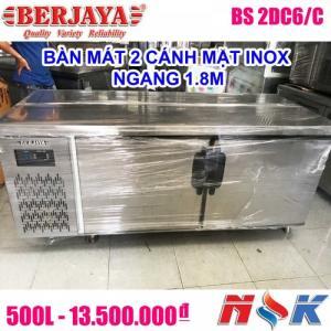 Bàn mát 2 cánh inox Berjaya BS 2DC6/C 1m8