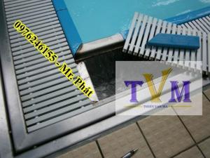 Thi công lắp ráp rãnh nhựa máng tràn hồ bơi