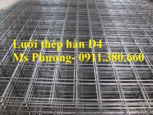 Lưới thép hàn, hàng rào lưới sắt D4 ô 200x200, ô 100x100,... hàng mạ kẽm