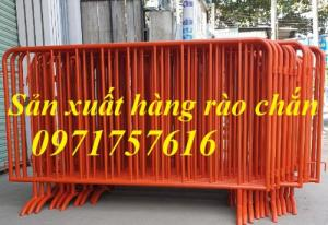 Hàng rào chắn cách ly,hàng rào di động ,hàng rào có bánh xe sản xuất tại Hà Nội