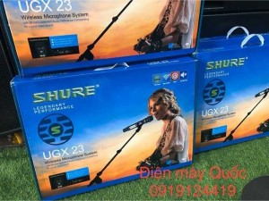 micro shure ugx 23, 4 sóng , loại i