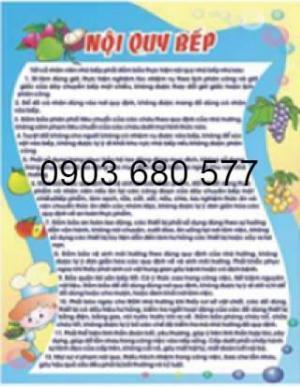Chuyên cung cấp bảng tuyên truyền cho trường lớp mầm non, nhà bếp ăn, phòng y tế