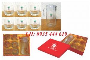 Ly thủy tinh, bộ bình ly thủy tinh các loại in logo tại Huế