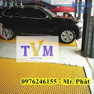 Tấm sàn chống trượt, sàn lót khu rửa xe