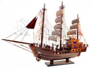 Mô hình Thuyền Buồm Tàu buôn Thái Lan - Gỗ Cẩm Lai đẹp - Size 60-80cm